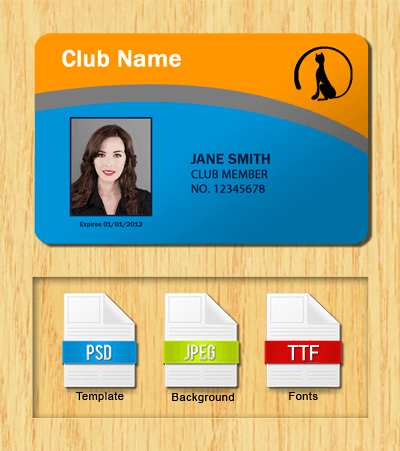 Membership ID Template #3