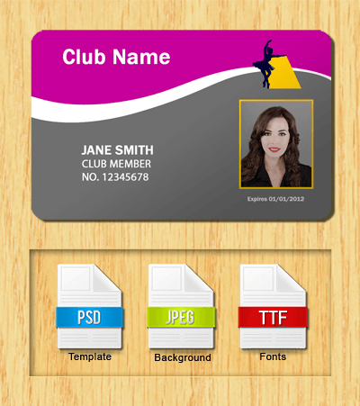 Membership ID Template #4