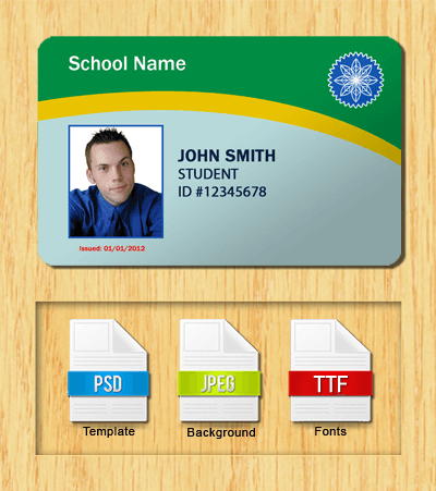 Student ID Template #3