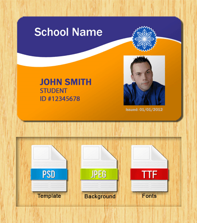 Student ID Template #4