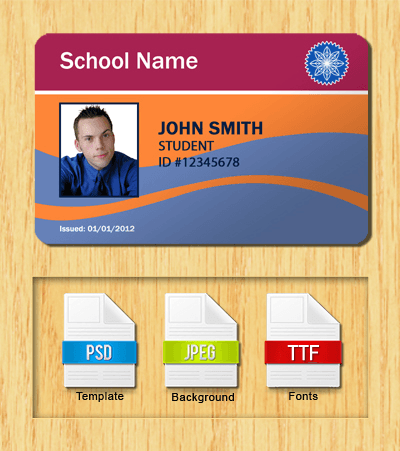 Student ID Template #5